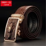 Promo Sng Lan Store Premium Kualitas Crocodile Grain Cowhide Belt Untuk Pria Fashion Bisnis Belt Pria Casual Belt 0891 1 Camel Intl Oem
