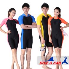 Spesifikasi Snorkling Pria Dan Wanita Tabir Surya Lengan Pendek Wetsuit Baju Renang Sisi Biru Sisi Biru Lengkap Dengan Harga