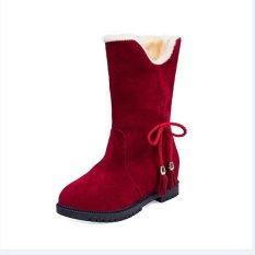 Salju Sepatu Bot Musim Dingin Ankle Boots Wanita Sepatu Heels Musim Dingin Boots Sepatu Fashion Internasional Tiongkok Diskon