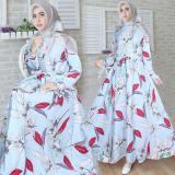 Toko Snowshop Gamis Syari Monalisa Blue Gamis Muslim Gamis Syari Fashion Muslim Baju Muslim Pakain Wanita Dress Snowshop Di Dki Jakarta