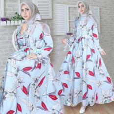 Harga Snowshop Gamis Syari Monalisa Blue Gamis Muslim Gamis Syari Fashion Muslim Baju Muslim Pakain Wanita Dress Snowshop Terbaik