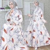Toko Snowshop Gamis Syari Monalisa Cream Gamis Muslim Gamis Syari Fashion Muslim Baju Muslim Pakain Wanita Dress Terlengkap