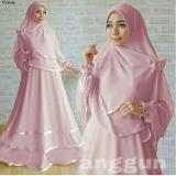 Harga Snowshopkita Dress Muslimah Gamis Syari Anggun Pink Termurah