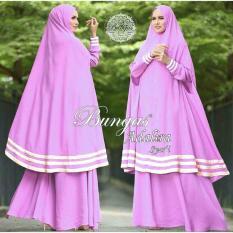 Snowshopkita Dress Muslimah Gamis Syari Adalira - Ungu Muda / gamis syari / syarii / jumbo / jersey / fashion / dress / gaun / busana