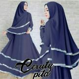 Kualitas Snowshopkita Dress Muslimah Gamis Syari Aretta Navy Snowshopkita