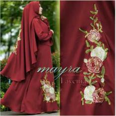 Spesifikasi Snowshopkita Baju Muslim Syari Lavenia Maroon Murah
