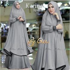 Snowshopkita Jersey Premium Gamis Syari Karina - Grey