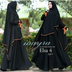 Snowshopkita Dress Muslimah Gamis Syari Elsa New 4 - Black