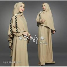 Snowshopkita Dress Muslimah Gamis Syari Lovely - Cream