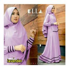 Dapatkan Segera Snowshopkita Dress Muslimah Gamis Syari Syfarose Lavender