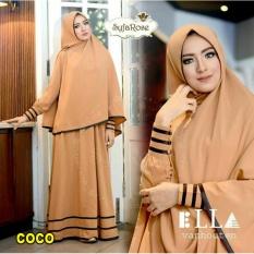 Diskon Besarsnowshopkita Dress Muslimah Gamis Syari Syfarose Coco