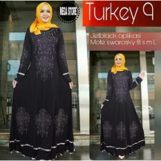 Beli Snowshopkita Dress Muslimah Gamis Syari Turkey Black Cicilan