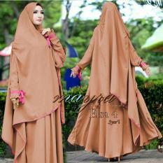 Snowshopkita Fashion Muslim Dress Muslimah Gamis Syari Elsa Wolfis - Brown/Coklat