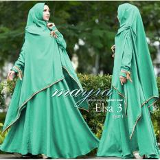 Snowshopkita Fashion Muslim Dress Muslimah Gamis Syari Elsa Wolfis - Tosca