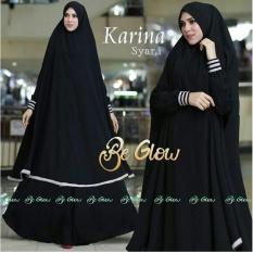 Snowshopkita Jersey Premium Gamis Syari Karina - Black