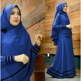 Harga Snowshopkita Dress Muslimah Gamis Syari Syfarose Biru Benhur Lengkap