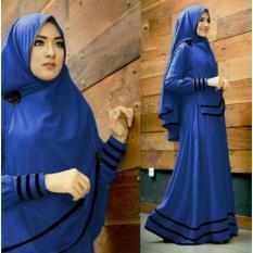Beli Snowshopkita Dress Muslimah Gamis Syari Syfarose Biru Benhur Cicilan