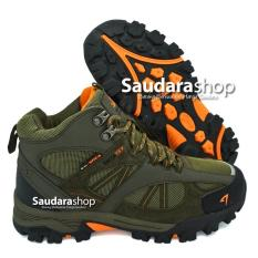 Harga Snta 481 Sepatu Gunung Sepatu Hiking Sepatu Outdoor Green Orange Yg Bagus