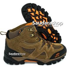 Jual Snta 491 Sepatu Gunung Sepatu Hiking Sepatu Outdoor Brown Orange Snta Asli