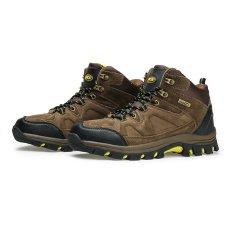 Beli Sepatu Gunung Hiking Outdoor Snta 465 Cokelat Kuning Secara Angsuran