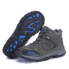 SNTA Sepatu Hiking / Gunung Outdoor 482 Abu Biru