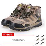 Jual Snta Sepatu Hiking Gunung Trekking Snta 490 Cokelat Kuning Snta Ori