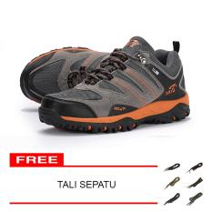 Jual Snta Sepatu Hiking Outdoor Sepatu Gunung Snta 429 Abu Orange Termurah