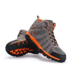 Beli Snta Sepatu Hiking Gunung Semi Waterproof Sepatu Outdoor 476 Abu Oranye Snta Online