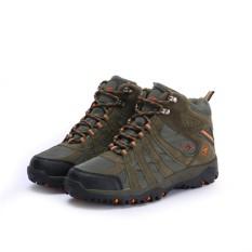 Snta Sepatu Hiking Gunung Semi Waterproof Sepatu Outdoor 476 Hijau Orange Snta Diskon 40