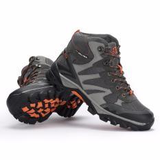 Spesifikasi Snta Sepatu Hiking Gunung Semi Waterproof Sepatu Outdoor 478 Abu Orange Merk Snta