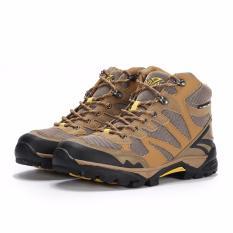 Jual Snta Sepatu Hiking Gunung Semi Waterproof Sepatu Outdoor 478 Cokelat Kuning Murah Dki Jakarta