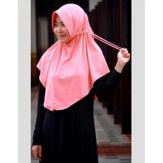 Sosialhijab Jilbab Instan Serut Jokowi - Hijab Instan Jersey Polos - Kerudung Pet Serut Instan