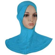 Soft Stretch Muslim Sport Inner Jilbab Caps Islam Underscarf Topi Crossover Pakai Kepala-Intl