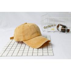 Sogo Topi Baseball Karakter Bordir Topi Model Biasa Jalan Pria Dan Wanita (Papan lampu untuk melakukan tua-oranye)