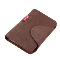 Sohoku Card Holder Bahan Kulit Bovis Coklat Asli