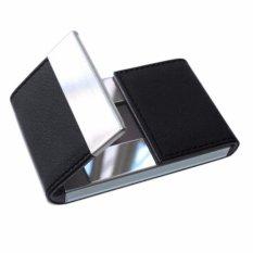 Jual Sohoku Card Holder Lapis Kulit Model Vertikal Magnetik Buka Tengah Hitam Satu Set