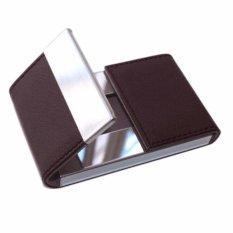 Spesifikasi Sohoku Card Holder Lapis Kulit Model Vertikal Magnetik Buka Tengah Kopi Dan Harganya