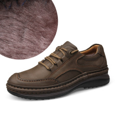 Sol Tebal Jahitan Sepatu Buatan Tangan Kulit Sepatu Pria (Gelap Coklat [Ditambah])