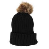 Spesifikasi Solid Crochet Ski Beanies Topi Perempuan Pria Hangat Hat Dikepang Merajut Sphere Wol Tengkorak Topi Baru