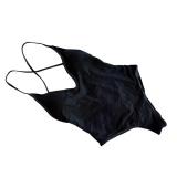 Toko Solid One Piece Swimwear Tinggi Kaki Swimsuit Backless Berenang Cocok Untuk Wanita Swimwear Mandi Intl Lengkap