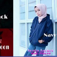 Toko Sonia Jacket Fleece Jaket Parka Ziper Hoodie Casual Atasan Wanita Termurah