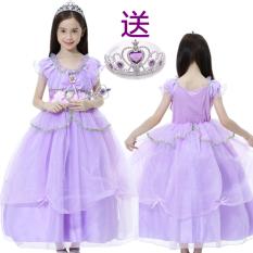 Beli Sophia Katun Hari Natal Kostum Gaun Putri Ungu Nyicil