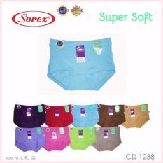 Spek Sorex 6 Pcs Celana Dalam Wanita Type 1238 Size M L El Ql Warna Random Sorex