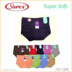 Sorex - 6 Pcs Celana Dalam Wanita Type 1238 Size M, L, EL, QL - Warna Random