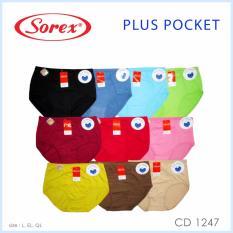 Beli Sorex 6 Pcs Celana Dalam Wanita Type 1247 Plus Pocket Size L Xl Xxl Warna Random Pakai Kartu Kredit