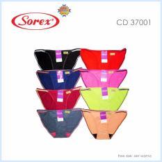 Harga Sorex 6 Pcs Celana Dalam Wanita Type 37001 Model B*k*n* Warna Random Seken