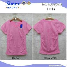 Sorex Baju Sport Senam Olahraga 2075 Pink Murah