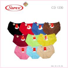 Promo Sorex Celana Dalam Wanita Type 1230 Random Color 3 Pcs Sorex