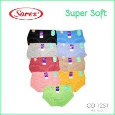 Beli Sorex Celana Dalam Wanita Type 1251 Random Color 3 Pcs Sorex Murah
