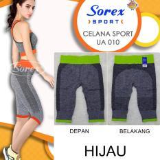 Diskon Sorex Celana Sport Ua 010 Pants 3 4 Legging Olahraga Senam Yoga Hijau